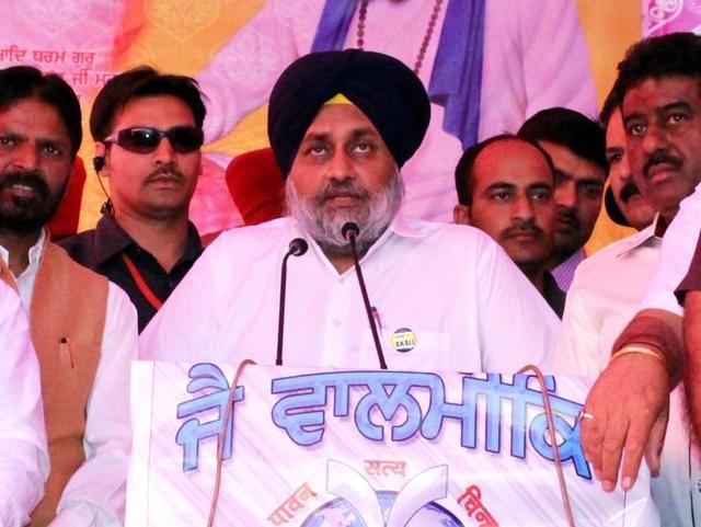 Punjab deputy chief minister Sukhbir Singh Badal in Ludhiana on Sunday.