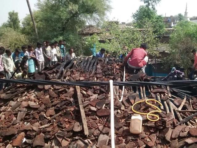 A woman and her two kids were burnt alive in an inferno at their house in Begumganj town of Raisen district on Saturday.