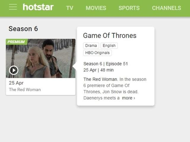 HBO distributes its Originals in the US via their own subscription plan. Instead of launching it in India, they are giving that option to Hotstar, which is also the hub for streaming shows from AIB and even cricket matches