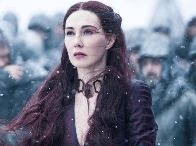 Fans speculated whether the season opener's title, The Red Woman, indicated that the Red Priestess Melisandre, played by Carice van Houten, would have a hand in bringing Snow back to life after he was stabbed by his mutinous underlings.