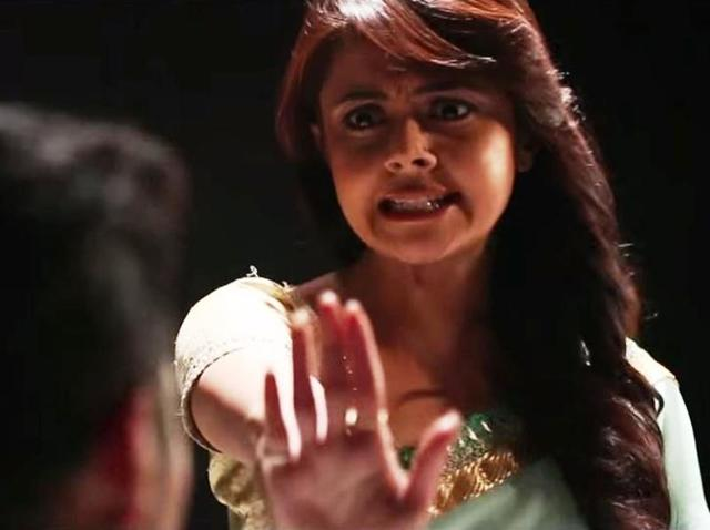 Devoleena Bhattacharjee aka Gopi Vau in a still from Aur Dikhao's video.