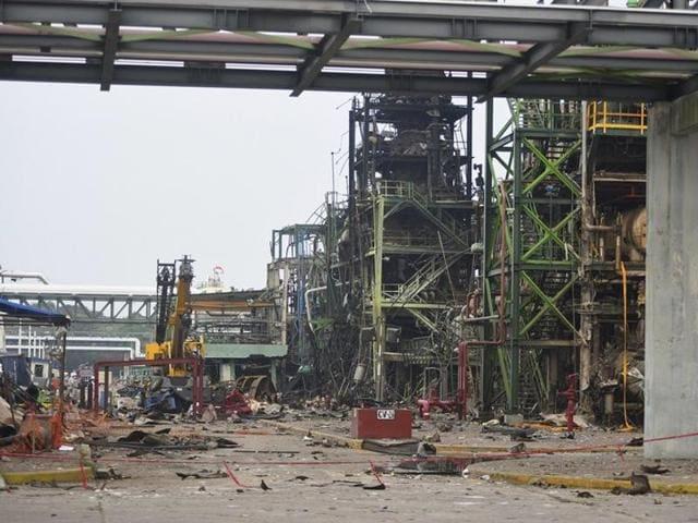 Patrochemical plant explosion