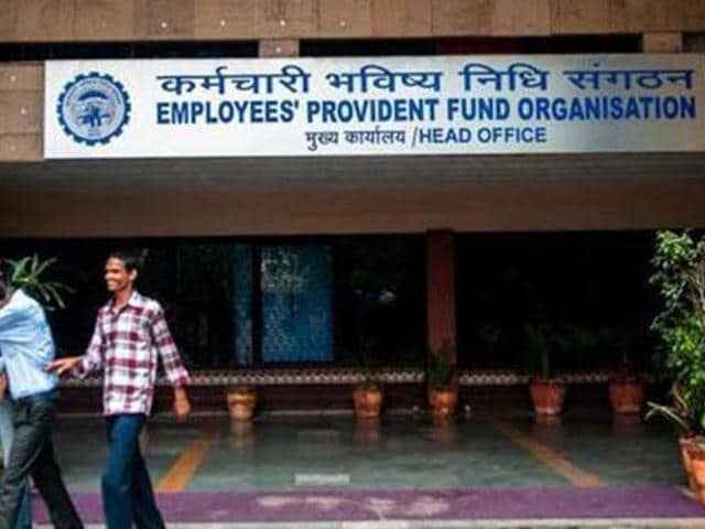 Picture of Employees' Provident Fund Organisation head office in Delhi.