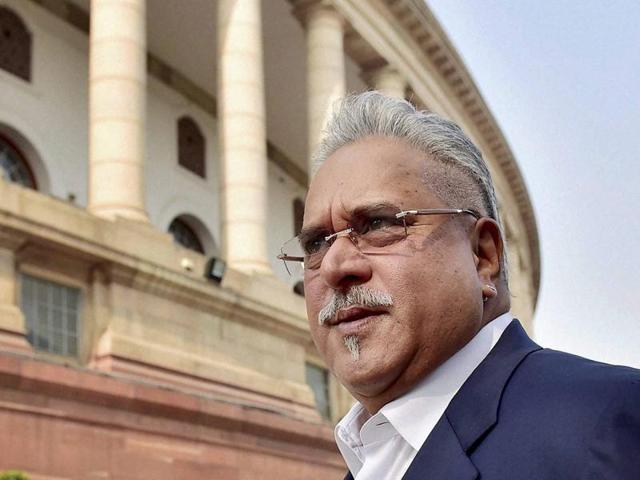 File photo of Vijay Mallya at Parliament House in New Delhi.
