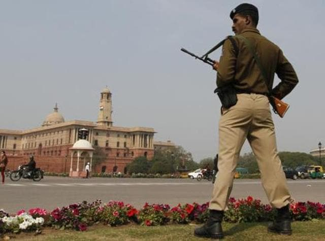 In this file photo, a soldier stands guard near the Parliament House.