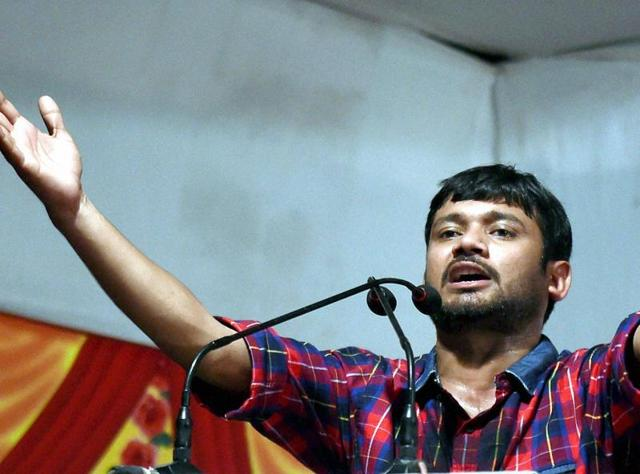 Targeting Prime Minister Narendra Modi for the second consecutive day during his two-day visit to Maharashtra, Kanhaiya Kumar said the Bharatiya Janata Party was attempting to divide the country along caste-communal lines without solving the core issues.  (Photo by Arijit Sen/ Hindustan Times)