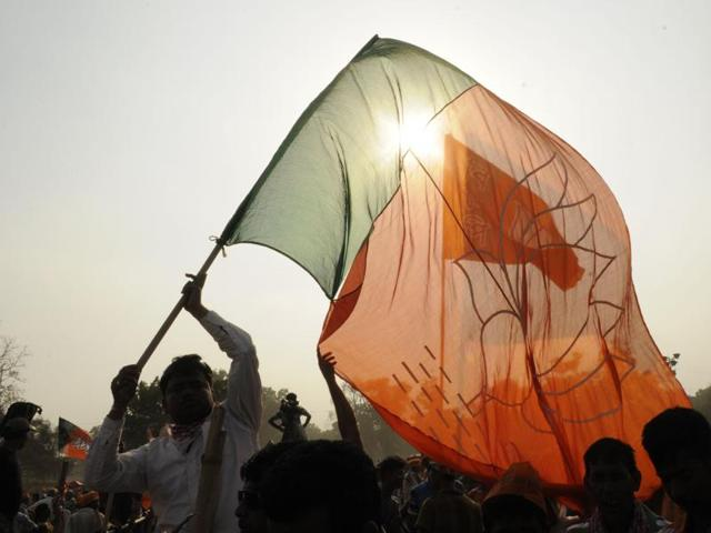 File photo of BJP supporters at Prime Minister Narendra Modi's public meeting in Nadia district in West Bengal.