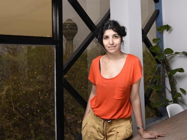 Chiki Sarkar, promoter of publishing start-up Juggernaut, at her office in New Delhi.(Reuben Singh / HT Photo)