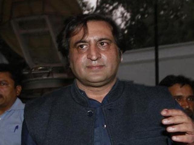 Peoples' Conference chairman and Jammu and Kashmir legislator Sajad Lone