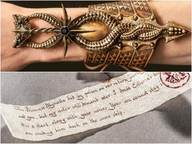 HBO has revealed the pictures of the gorgeous letter by Jaime to Doran, telling him of Myrcella's murder.