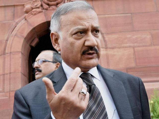 CBI director Anil Sinha at Parliament House during the budget session in New Delhi.