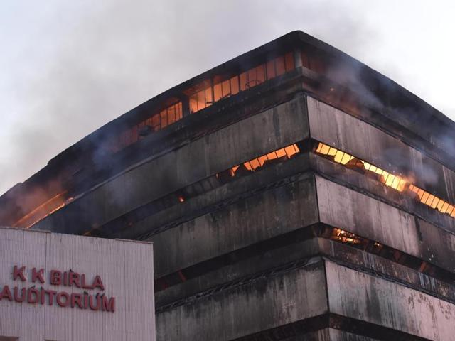 Fire at FICCI building