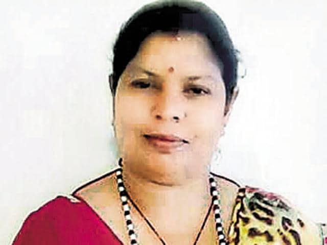 BJP district women cell secretary Dharmawati Mishra.