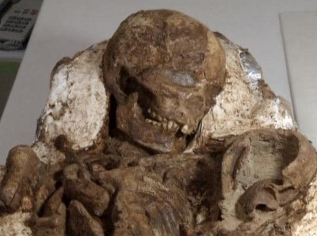 Fossil,Taiwan,Mother cradling baby