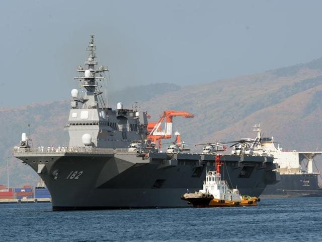 South China Sea,Japanese warship Ise,The Philippines
