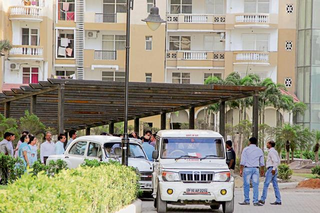 The PAN Oasis housing project was inspected by a team of officials from planning and other departments of Noida.