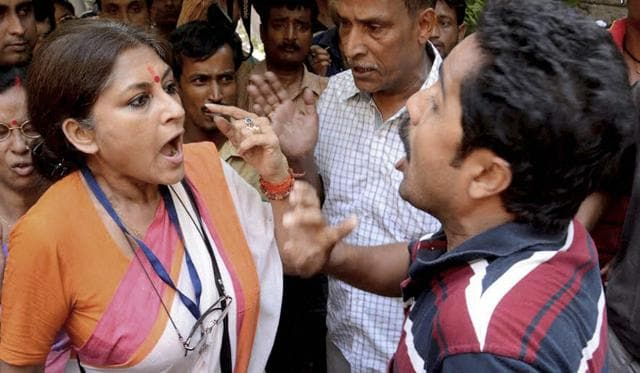 Actor turned BJP leader Rupa Ganguly was beaten up and her car ransacked on Sunday.