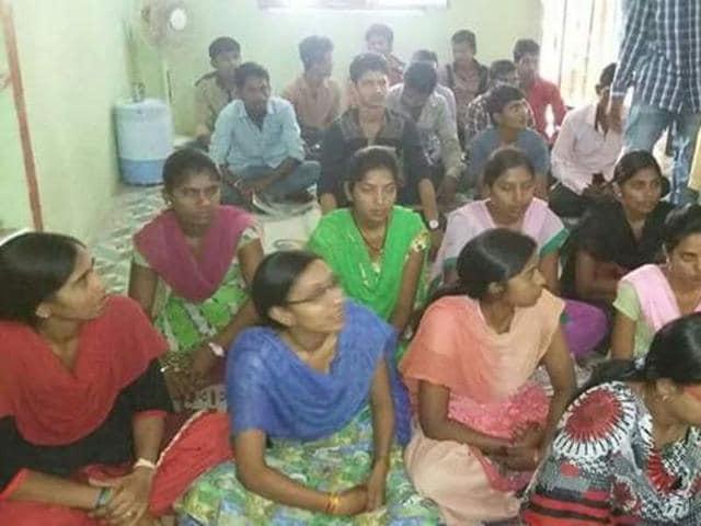 A coaching centre opened by Jay Adivasi Yuva Shakti.(HT photo)