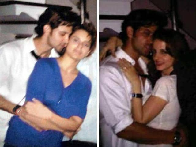 Not just Kangana Ranaut, Hrithik Roshan was seen hugging then wife Sussanne at the same party.