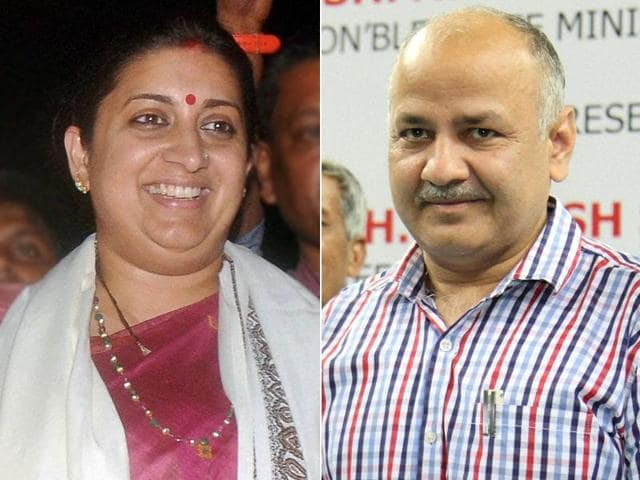 The saga began on Monday when Delhi education minister Manish Sisodia taunted Union human resource development minister Smriti Irani for ordering IITs to teach Sanskrit.