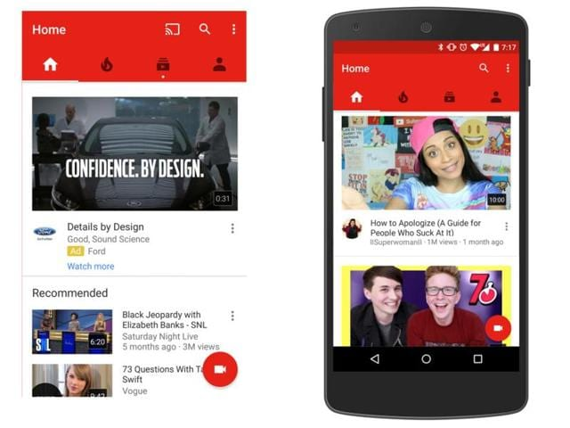The update to YouTube app adds the ability to decipher your watching patterns using deep neural network technology
