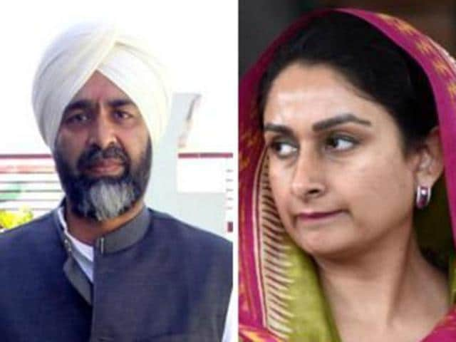 """How is it possible? Are they cousins of Bill Gates or have they studied from some special university that the wealth of Harsimrat and chief minister Badal is going up by crores every year?"" Manpreet (left) said."
