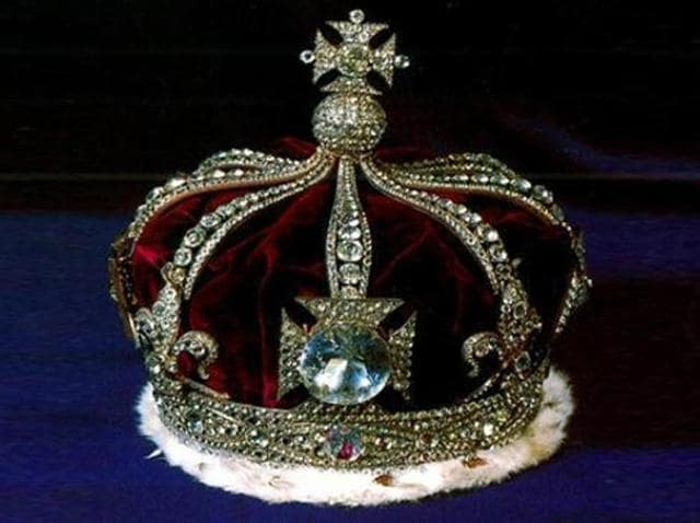 The Kohinoor diamond as part of the British Monarch's crown.