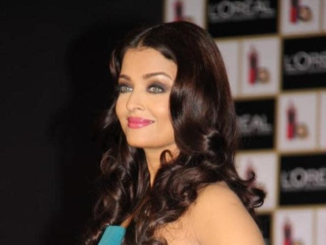 Aishwarya Rai Bachchan at a product launch in Mumbai.