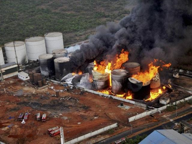 A massive fire broke out at Biomax Fuels Limited (BFL), a bio-diesel manufacturing unit at Visakhapatnam Special Economic Zone (VSEZ), Duvvada area in Visakhapatnam, on Wednesday.