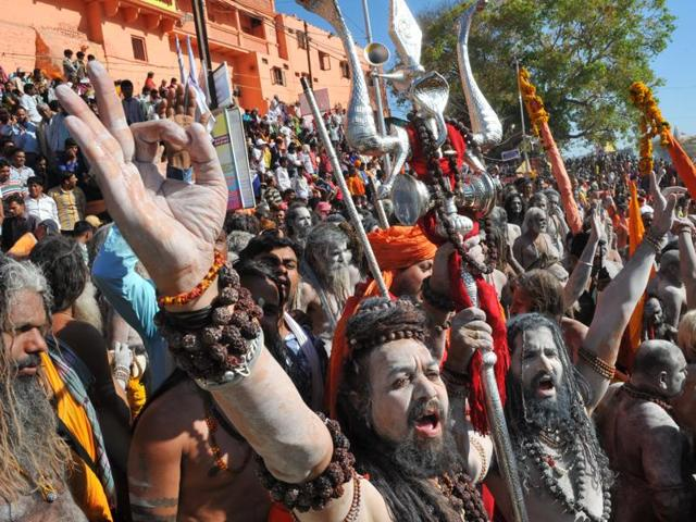 Nagas in Dutt Akhada area attract devotees with their quirky get-up.