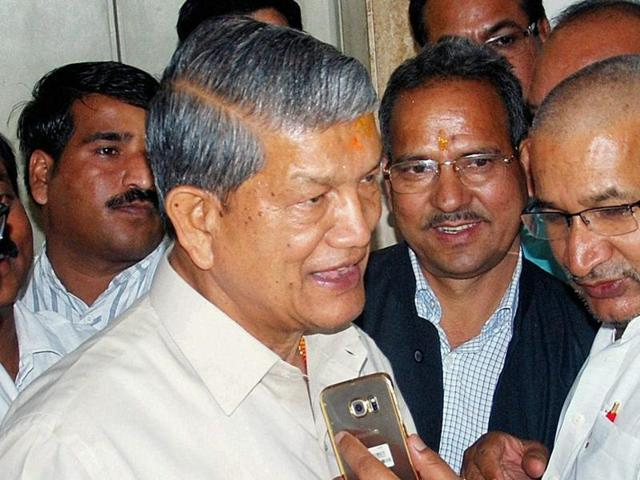 File picture of Harish Rawat, deposed chief minister of Uttarakhand. The Supreme Court will on Wednesday hear the Centre's petition challenging the Uttarakhand high court's ruling that quashed President's rule  in the state.