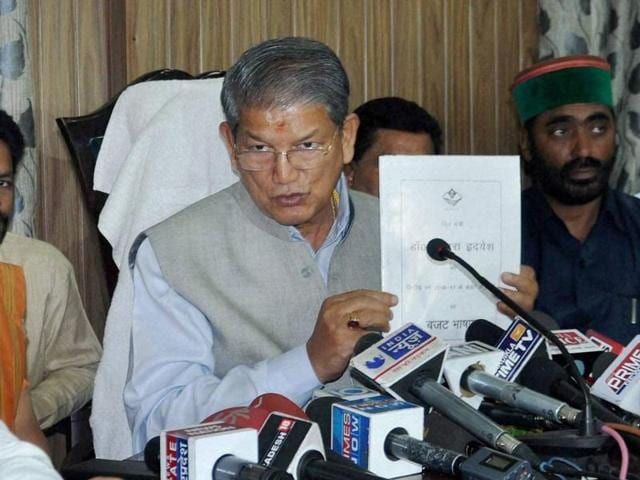 Former Uttarakhand chief minister Harish Rawat 's government was sent out of power after nine Congress MLAs rebelled to put the ruling Congress in minority.
