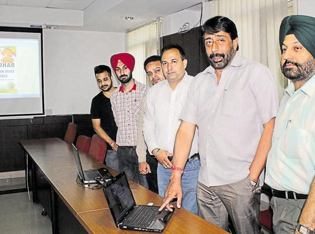 Municipal commissioner GS Khaira and mayor Sunil Jyoti launched the website at the MC office on Tuesday.