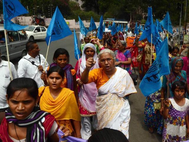 Medha Patkar along with Sardar Sarovar dam-affected people began a three-day hunger strike in Bhopal on Wednesday.