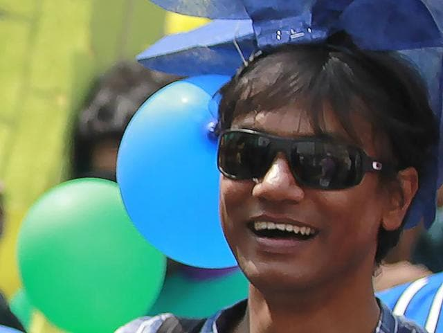 Bangladesh activist Xulhaz Mannan, as he attends a Bengali New Year rally organised by a Bangladesh LGBT society in Dhaka..