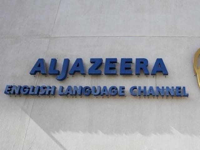 The logo of Qatar-based Al Jazeera satellite news channel is seen in Doha February 7, 2011.