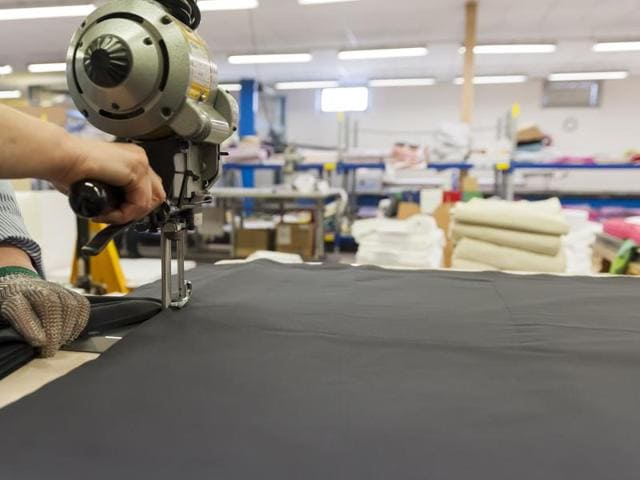(Representative image)The government said it does not set a target for the textile and garment industry as their production is predominantly in the private sector.