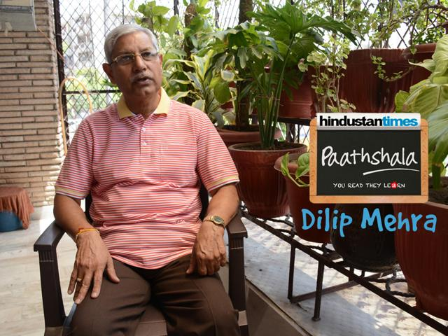 At 65 years, Dilip Mehra, is full of energy when it comes to volunteering for the HT Paathsala initiative. He retired as the Additional General Manager of NTPC, Ltd.