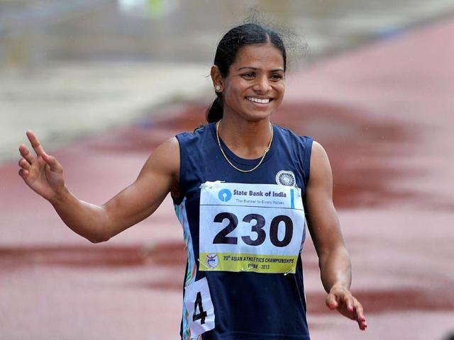 Dutee Chand (right) missed the Rio Olympics cut-off mark by one-hundredth of a second at the Federation Cup in New Delhi last month. She is, however, confident of making the cut in the coming events.