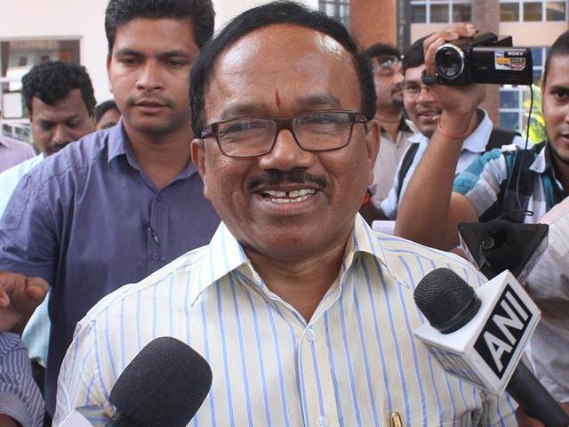 File photo of Laxmikant Parsekar (Rakesh Mundye/HT Photo)