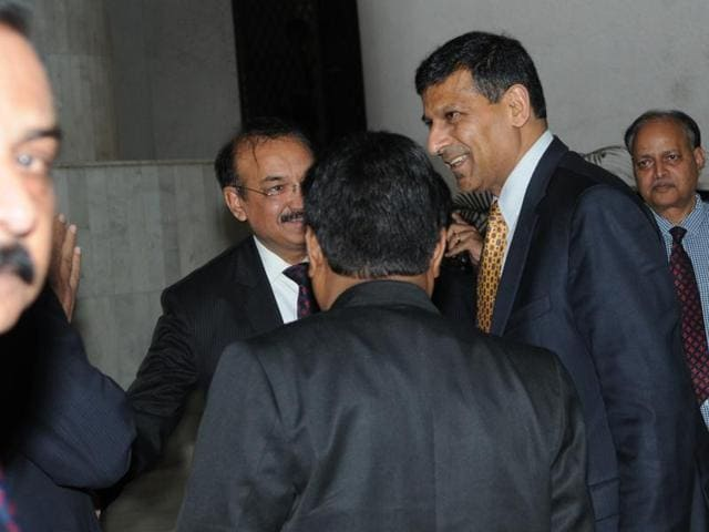 Reserve Bank of India governor Raghuram Rajan at the Bhopal Airport on Thursday.