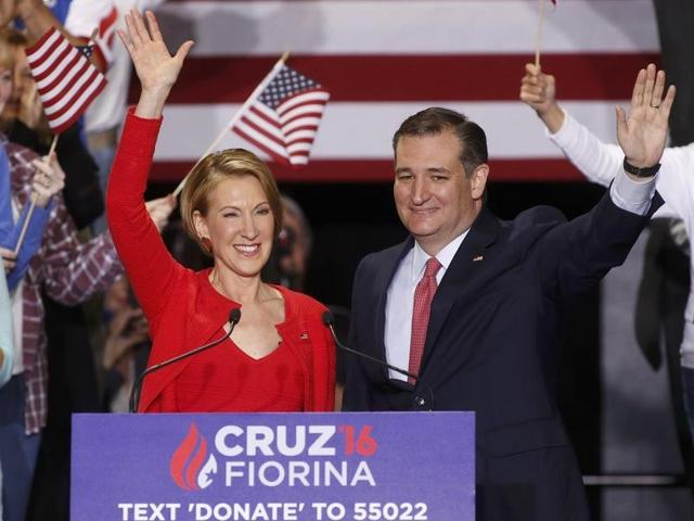 US presidential election,Ted Cruz,Carly Fiorina