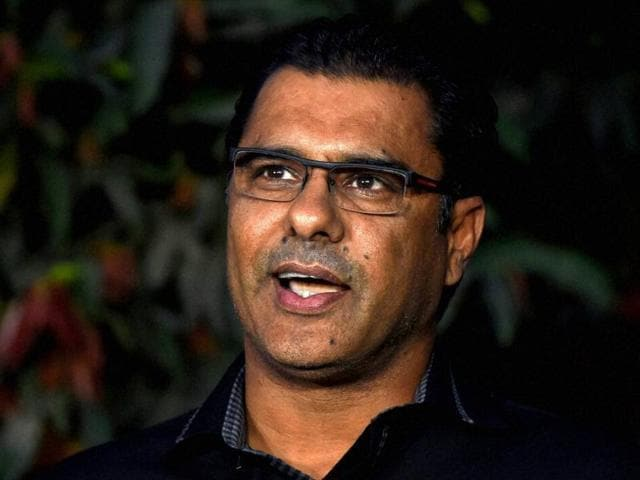 Pakistani Cricket coach Waqar Younis addresses a news conference in Lahore.