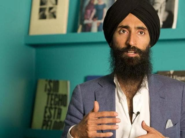 File photo of Waris Ahluwalia.  The Indian-American actor and designer wasn't allowed to board a Mexico City-to-New York flight in February 2016 after refusing to remove his turban. The airline later apologised to him.
