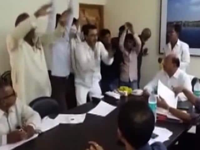 NCP workers perform Nagin dance during PWDmeeting in Buldhana.