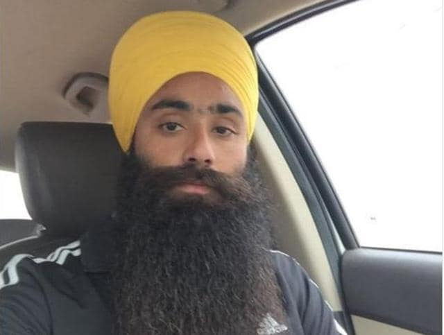 "File photo of Daljeet Singh, a Sikh of Indian origin, who was arrested with a Pakistani-American from a bus in Texas after fellow travellers claimed they were discussing a ""bomb threat"" in Arabic."