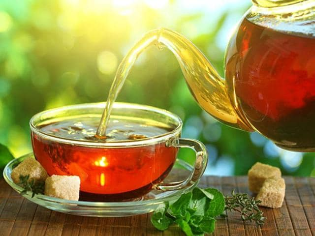 Peppermint tea is a herbal tea made from an infusion of peppermint, Mentha piperita. It is sometimes called mint tea.