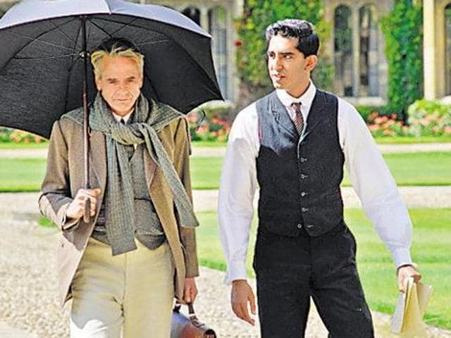 Dev Patel and Jeremy Irons in a still from The Man Who Knew Infinity. Patel plays Tamil mathematician Ramanujan in the film.