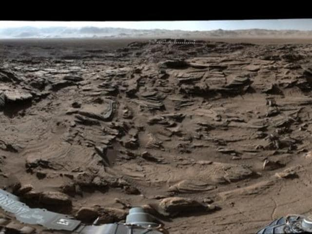 The footage was taken on April 4 by the Mast camera atop NASA's Curiosity rover.