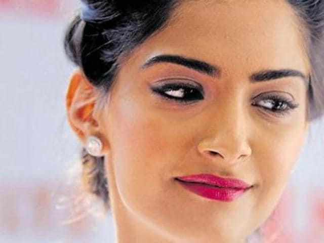 Sonam Kapoor poses for a photograph for a promotional event for Filmfare Glamour and Style Awards in Mumbai. (AFP)
